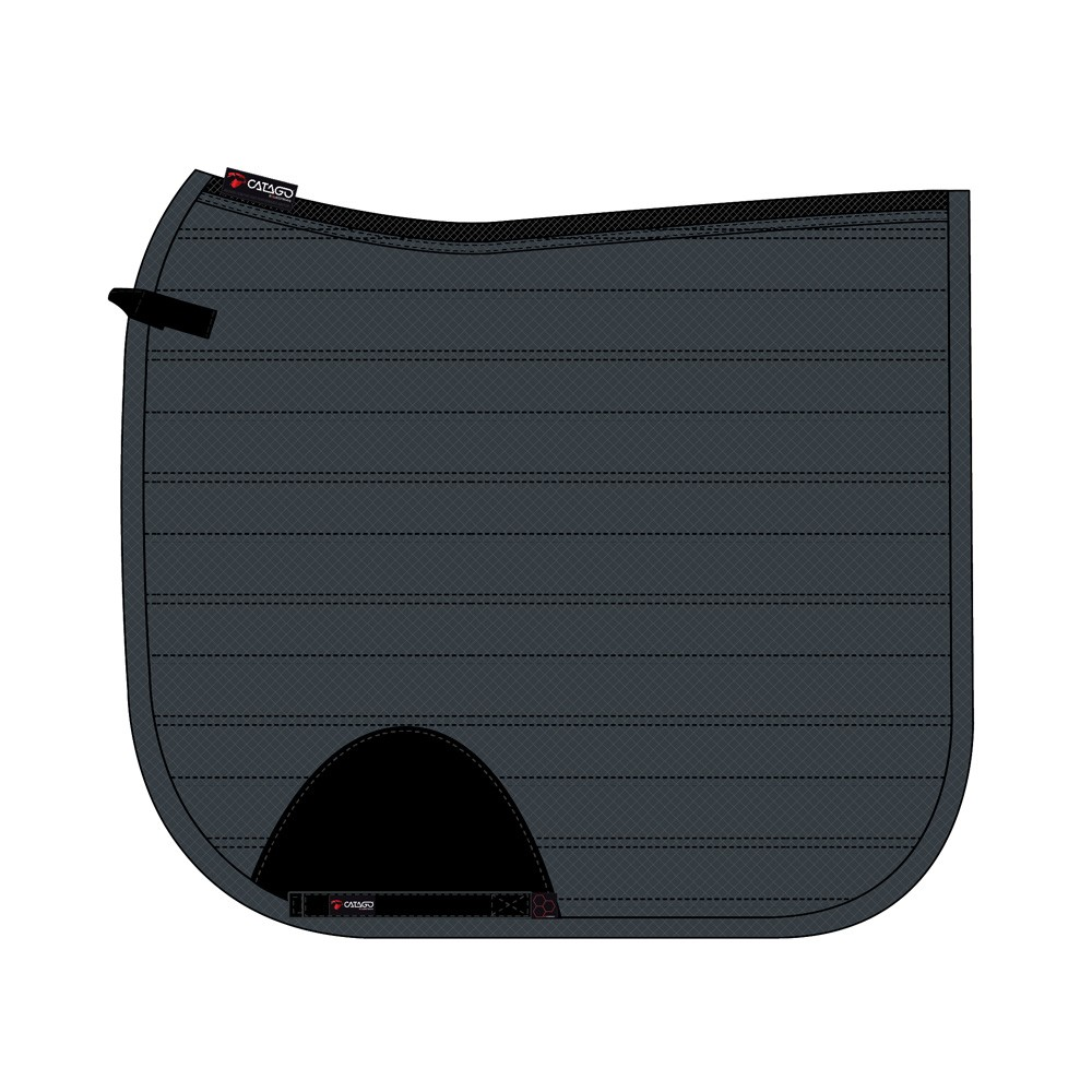 CATAGO Hybrid saddle pad asphalt  dr. 16